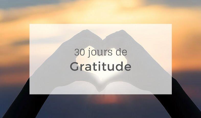 30 jours de gratitude